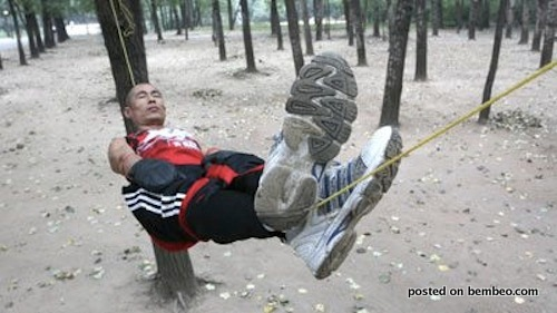 Gao Yang Sleeps on Rope